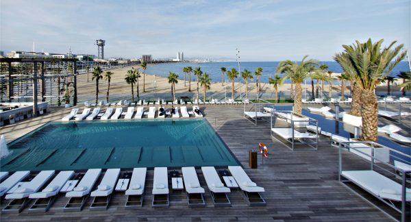 piscinas publicas hotel barcelona cinco