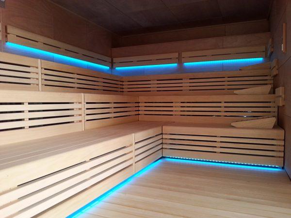 piscinas wellness sauna lounge led