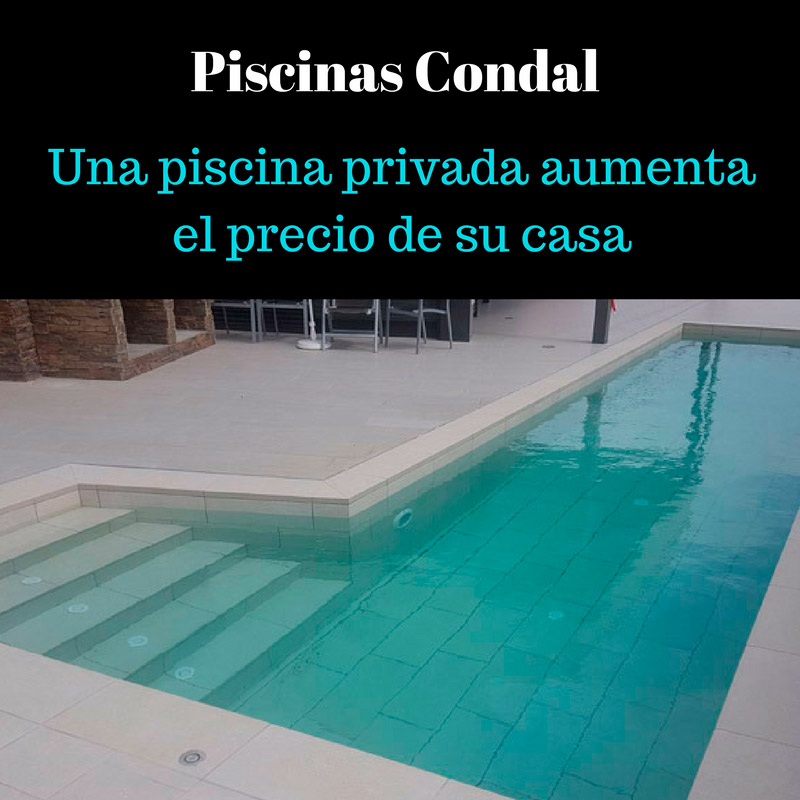 una piscina privada aumenta el precio de una casa