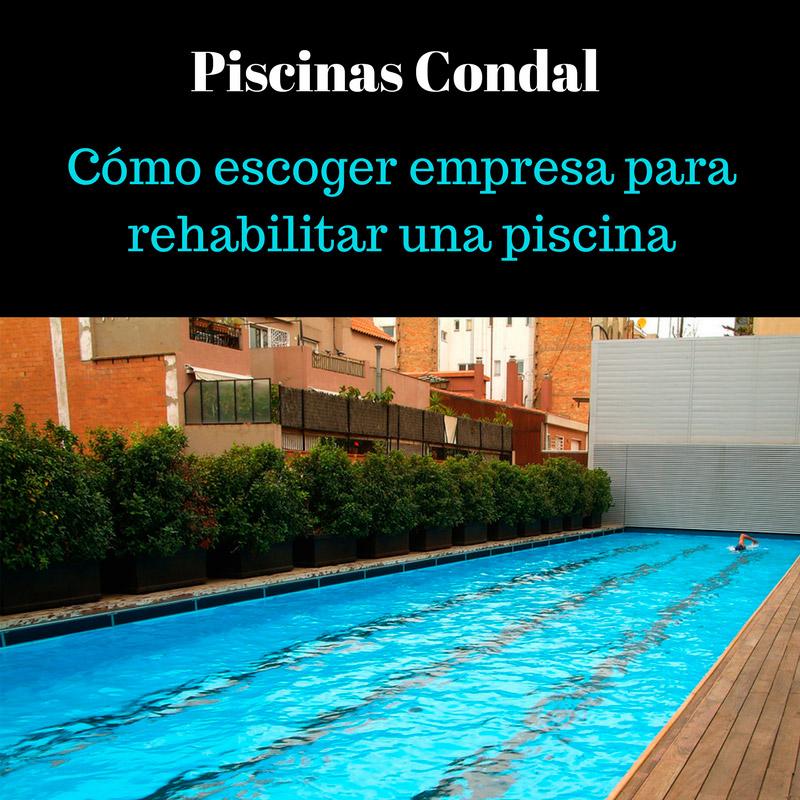 empresa para rehabilitar una piscina